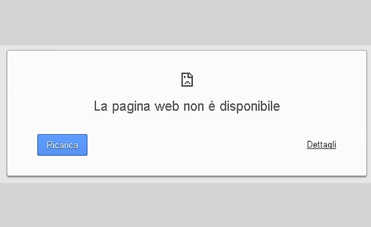 sito internet non presente